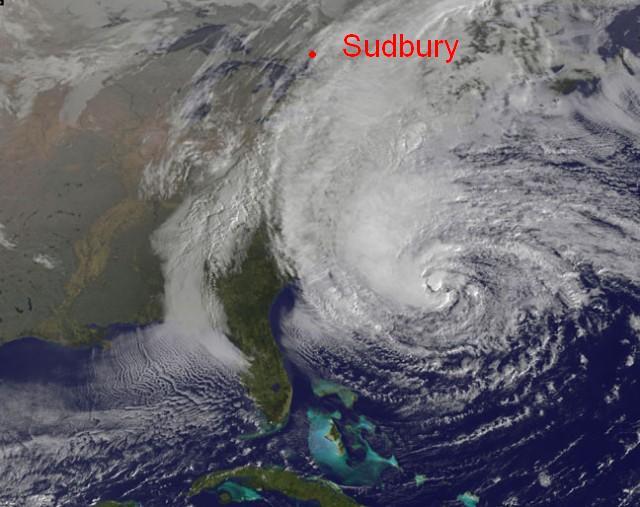 Sudbury location relative to Sandy